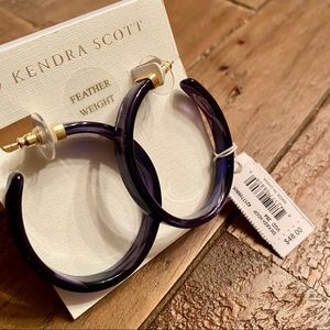 Kendra Scott Jewelry - Kendra Scott Indigo (Purple) Acetate Kash Hoops